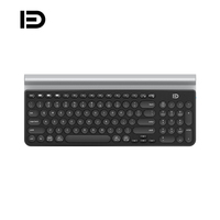 Fude Ik6650 Bluetooth Keyboard Computer Peripherals Punk Round Key Hat Business Office Keyboard Waterproof Multimedia Keyboard
