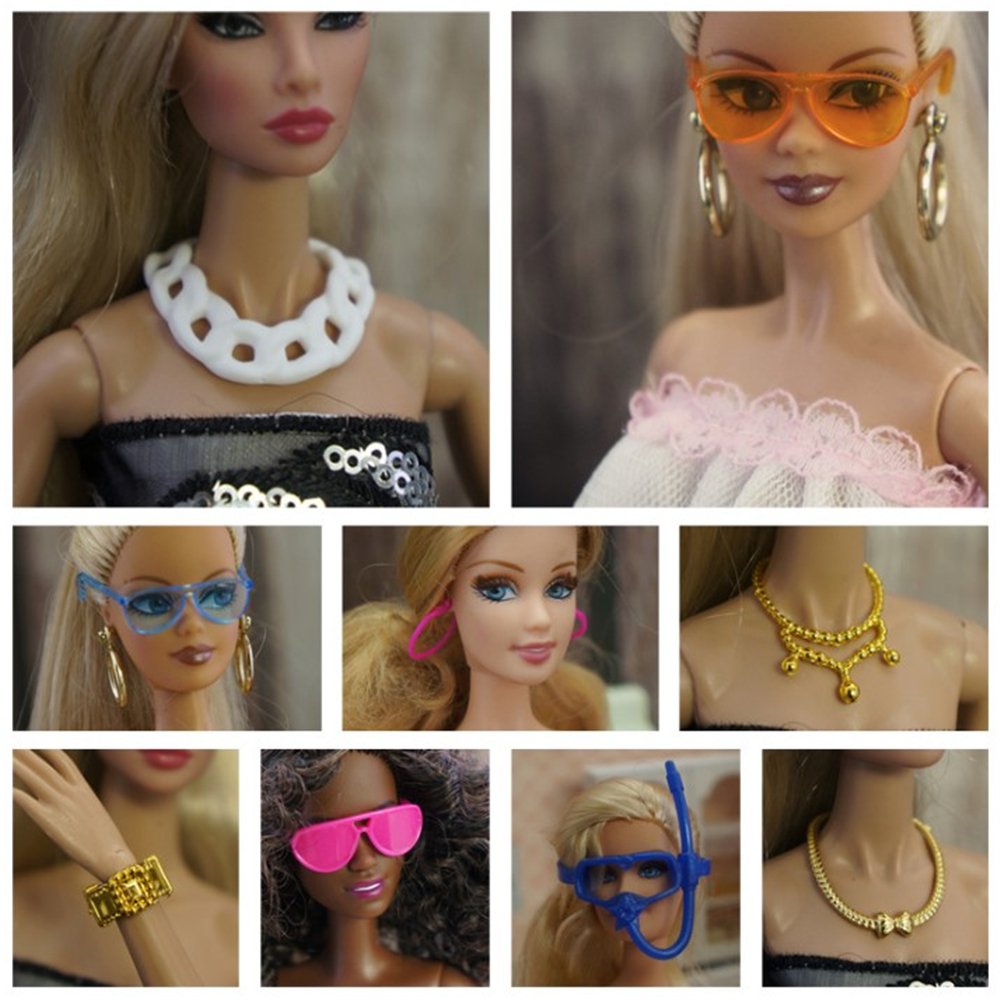 Doll Accessories Sunglasses Earrings Earring Hairpin Beads For Barbie DIY Toy Handmade Exquisite Dolls Accessory