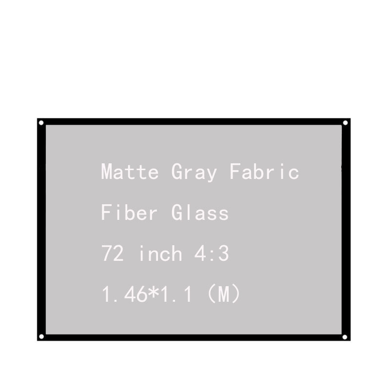 Thinyou Matte Gray Fabric Fiber Glass Portable Projector Screen 72inch4 3 Movie Screen For Home Theater LED DLP projector in Projection Screens from Consumer Electronics