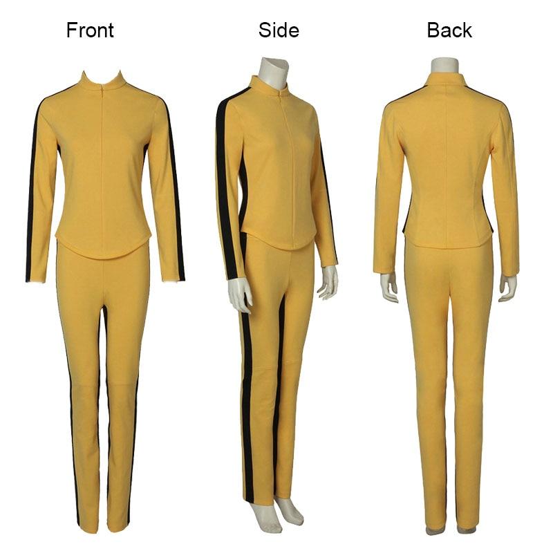 Uma thurman o filme matar cosplay bill traje feminino amarelo uniforme apertado ternos a noiva cosplay trajes de festa de halloween
