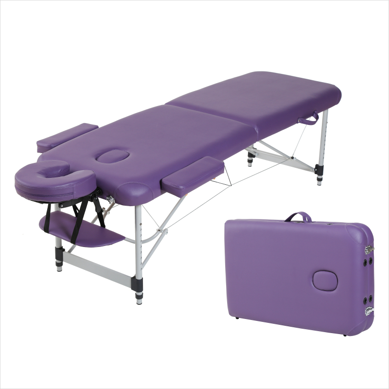 Folding Massage Bed Beauty Bed Massage Therapy Moxibustion Scraping Household Portable Tattoo Aluminum Alloy Portable Mobile