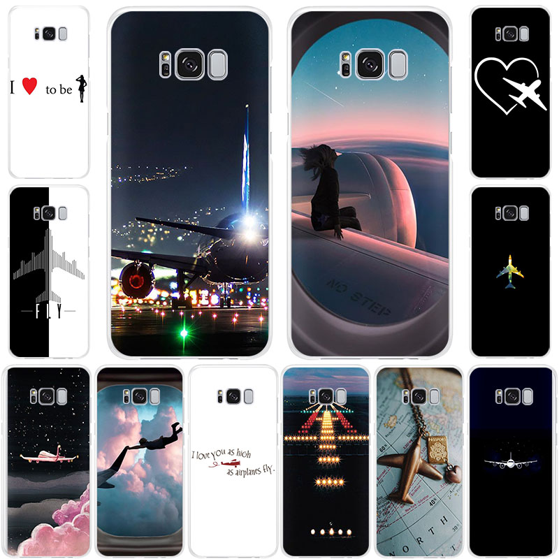 Love Aircraft Airplane fly Soft TPU Silicone phone case for Samsung Galaxy S11 S105G S10+ S10E S9 S8 S7 A6 A7 A5 <font><b>A82018</b></font> A9Pro A3 image