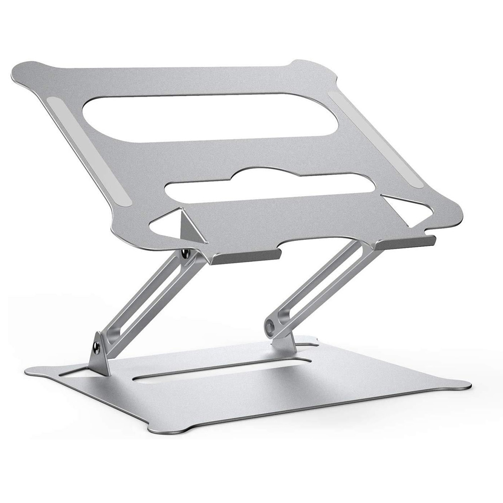 Aluminum Alloy Adjustable Laptop Stand Folding Portable for Notebook MacBook Computer Bracket Lifting Cooling Holder Non-slip 1