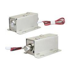 KJ & GALO elettromagnetico 12V o 24V DC mini metallo elettrico piccolo bullone serratura cassetto magnetico armadietto bocca rotonda
