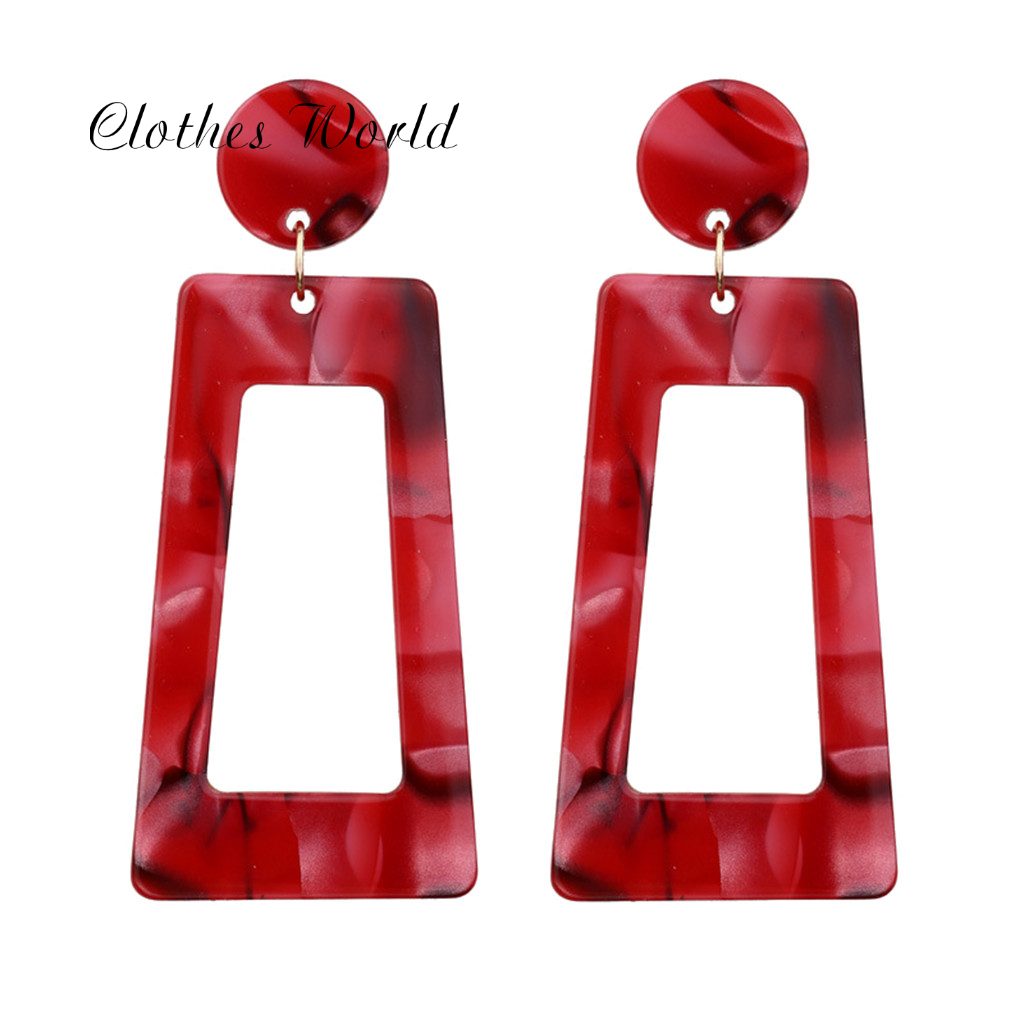 Colorful Cube Earrings Drop Dangle Personality Acetate Plate Geometry Long Square Earrings Ladies Jewelry Christmas Gifts Cheap