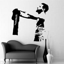 Футболист Месси FC Наклейка на стену на футбольную тематику украшение для дома комнаты декор для гостиной спальни Спортивная настенная художественная наклейка