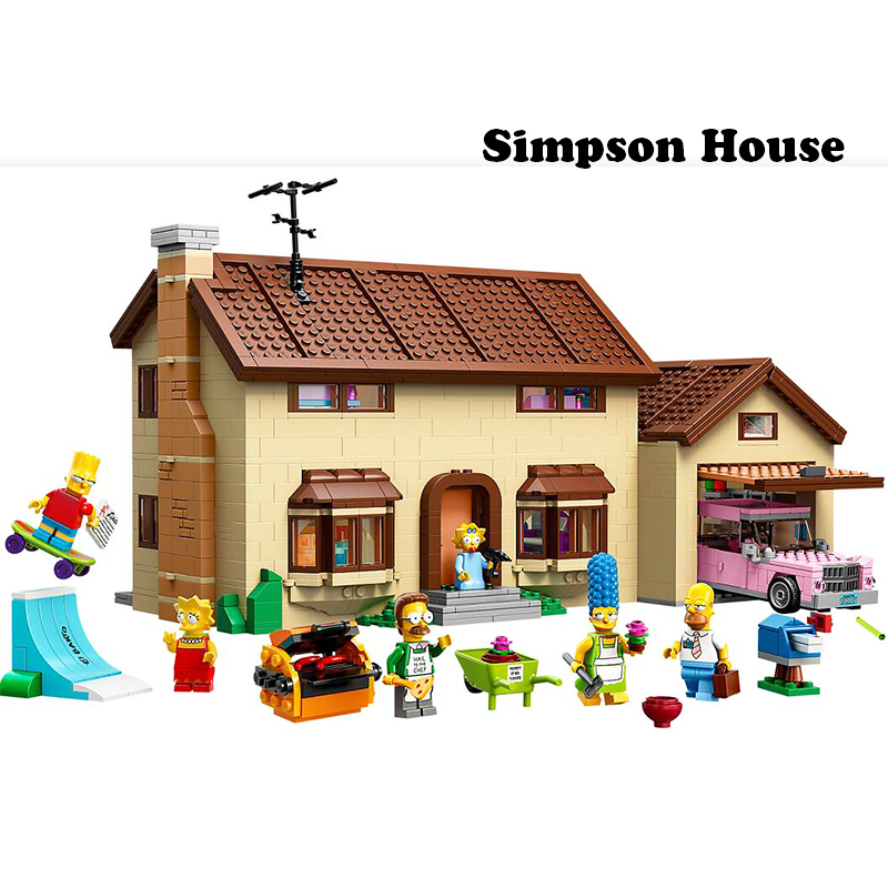 In Stock 2575pcs  Lepining 16005 83004 THE Simpsons Series 71006 Models Building Simpsons House Building Blocks Toy Hobbies