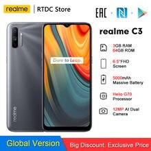 Realme-móvil C3 RMX2020, 3GB + 64GB, NFC, 6,5