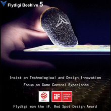 Flydigi Bee Sweat Proof Finger Cover Sleeve Touch Screen Thumbs Mobile Game Controller Sweatproof Gloves for PUBG Phone Gaming