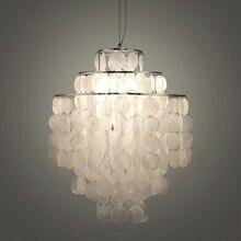 DIY modern white natural seashell pendant lamp fixture E27 Lights Dia 26/30/45cm Shell lamps for bedroom home living room