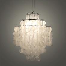 Diy Moderne Witte Natuurlijke Schelp Hanger Lamp Armatuur E27 Lichten Dia 26/30/45Cm Shell Lampen Voor slaapkamer Thuis Woonkamer