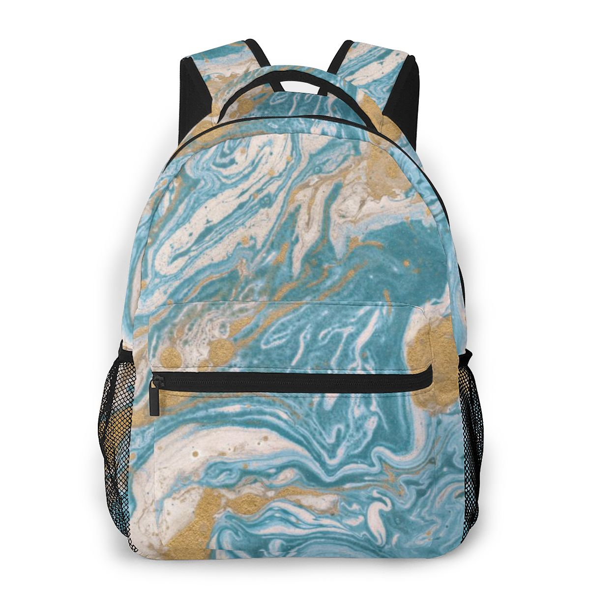 Unisex PU Leather Backpack Camo Joggers Women Teal Print Womens Casual Daypack Mens Travel Sports Bag Boys College Bookbag