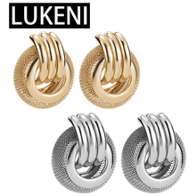 New Brinco ZA Boho African Earrings For Women Party Hiphop Rock Female Layers Gold Hollow Round Drop Bijoux Oorbellen jhumka