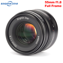 Brightin Star 55mm F1.8 풀 프레임 대형 조리개 수동 초점 프라임 렌즈 Sony E mount Canon RF mount Nikon Z Mount 카메라 용