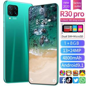 Cross Border Mobile Phone New Style Hot Selling R30Pro 1+8 Cross Border Hot Selling Smartphone Mobile Phone 6.5 Inch Manufacture