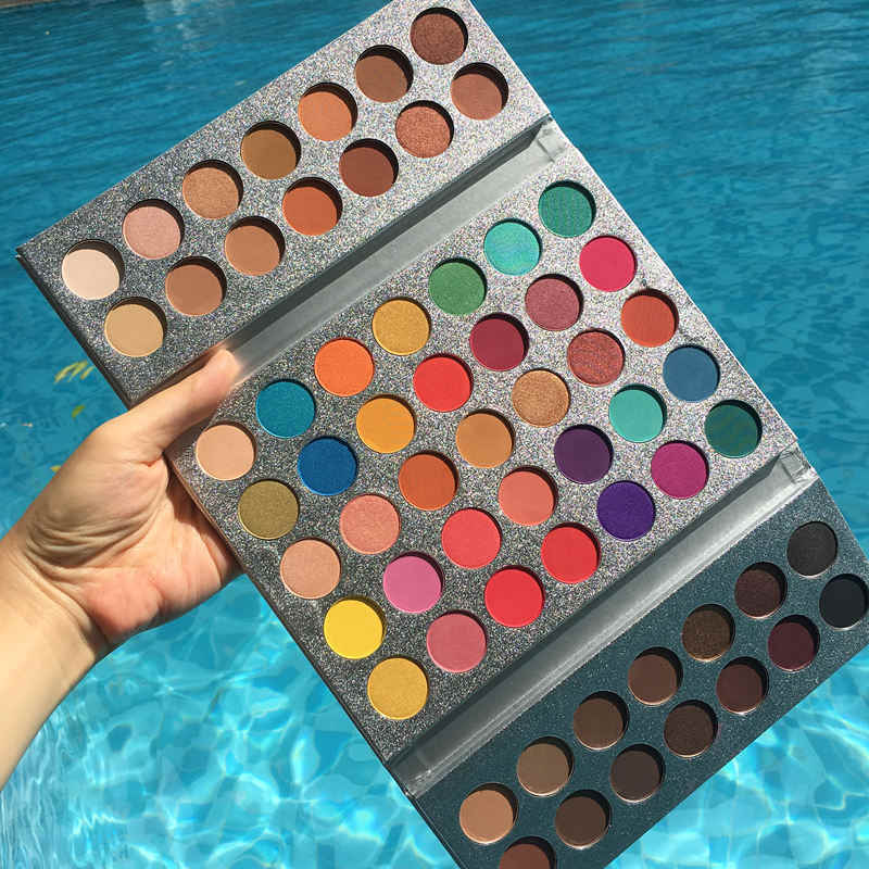 Kecantikan Mengkilap Eyeshadow Palet Eye Shadow Warna-warni Palet Glitter Stabilo Shimmer Membuat Pigmen Matte Eye Shadow Pallet