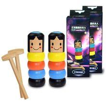 1 Set Immortal Daruma Small Wooden Man Halloween Magic Tricks Funny Toy Magic Pr