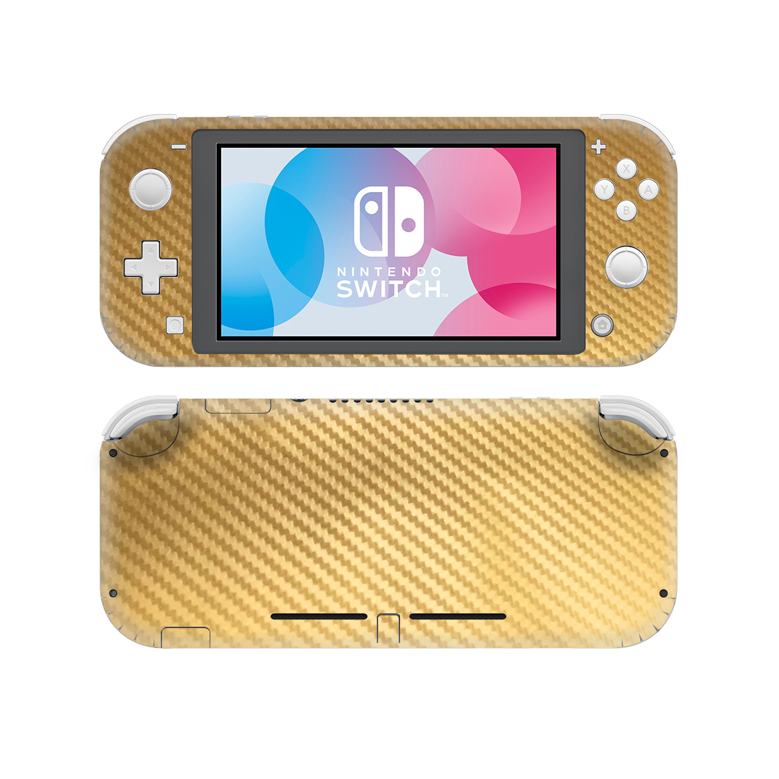 Cool Carbon Fiber Gold Style Vinyl Skin Sticker For Nintendo Switch Lite Nsl Protective Film Decal Skins Cover Stickers Aliexpress