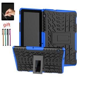 T5 планшет силиконовый + PC чехол для Huawei MediaPad T5 10 10,1 дюймов AGS2-W09 -L09 /L03/W19 противоударный чехол для планшета + ручка + пленка