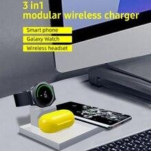 2021 חדש 3in1 אלחוטי מטען Stand מחזיק עבור Samsung גלקסי שעון/ניצני נייד טלפון