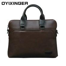 2020 New Men's Leather Briefcase Woman Laptop Bag Men Messenger Bolso Hombre Computer Bag Luxury Handbags For Macbook Air HP Sac
