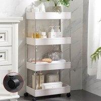 Carro de almacenamiento delgado de 2/3/4 niveles, estantería móvil para cocina y baño, unidad organizadora, se desliza, torre en forma de rejilla