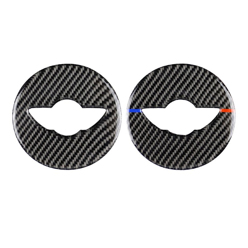 Car Interior Carbon Fiber Steering Wheel Sticker Covers Decoration for Mini Cooper F55 F56 F60 JCW Accessories Styling