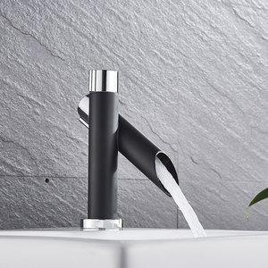 Image 5 - Hownifety Chrome z czarną polerowaną nablatowa umywalka do łazienki zestaw kranów bateria umywalkowa pojedynczy otwór pojedynczy uchwyt nowoczesny