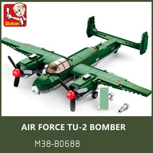 311Pcs Military Air Force WW2 Soviet Union TU-2 Bomber Fighter ARMY Figures Bricks LegoINGs Building Blocks Toys Christmas Gifts