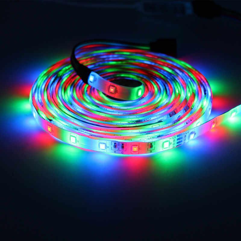 5050SMD 2835SMD 2M 3M 5M taśmy Led RGB taśmy tiras elastyczne neon led światła salon 12v adresowalnych