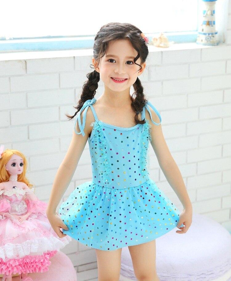 KID'S Swimwear GIRL'S Swimsuit Small CHILDREN'S Princess Dress-5-8-Year-Old South Korea Kids Baby Swim Bathing Suit