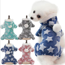 OUYXR Pet Cloth New Stylish Star Dog Warm Clothes Puppy Jumpsuit Hoodie Coat Apparel Gifts High Quality Velvet