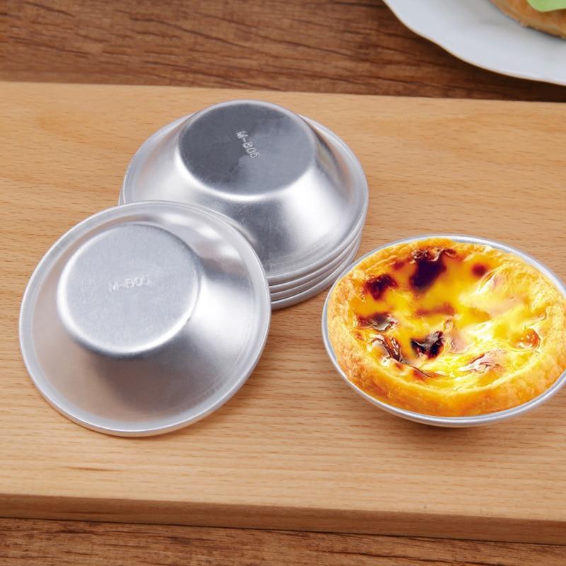 Aluminum Egg Tart Mold Cake Mould Fruite Cake Pan Oven Bakery Tools Baking Mold Baking Pan Bakeware Kitchen Accessories 1PC