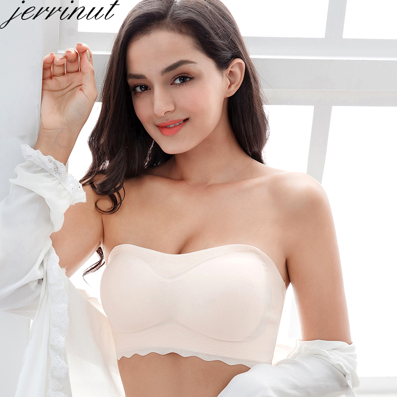 Jerrinut Push Up Bras For Women Underwear Invisible Strapless Bralette Plus Size Brassiere 5XL 6XL 7XL Soutien Gorge Femme(China)