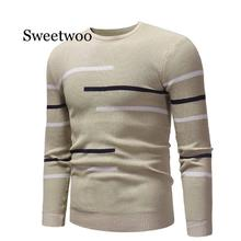 2020 New Autumn Winter Men'S Sweater Men'S Turtleneck Solid Color Casual Sweater Men's Slim Fit Knitted Pullovers
