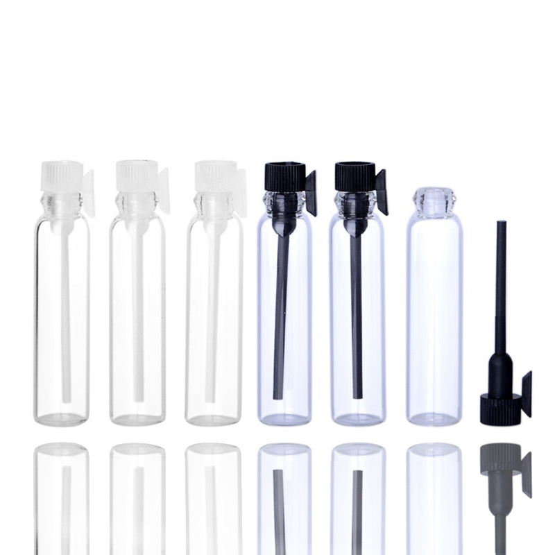 5pcs Mini Glass Perfume Small Sample Vials Essential Oil Bottle 1ml 2ml Empty Laboratory Liquid Fragrance Test Tube Trial Bottle