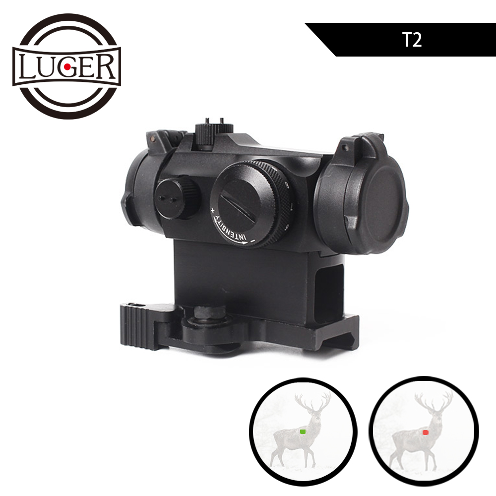 LUGER Tactical Red Dot Sight Scope Reflex Illuminated Sniper Red Green Dot Sight With Quick Release Rifle Hunting Scope