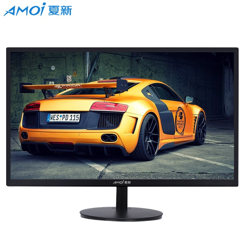 Amoi 24 Inch LED Monitor Game Competition 75Hz HD Flat Panel Screen Full HDD LCD Computer Display Screen HDMI/VGA Interface