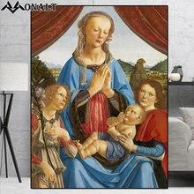 Картина на холсте классическая картина маслом Иисус Дева Мария