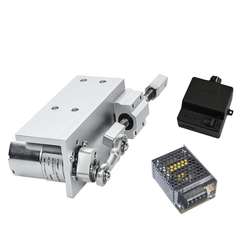 330 lset pequeno diy design reciprocating ciclo atuador linear 12 v 24 v curso 12/16/20mm + fonte de alimentação de comutação + controlador velocidade