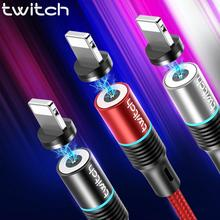 Twitch Magnetic USB Cable For iPhone Xs Max Xr X 11 8 7 6 6s 5s iPad magnet Fast Charging
