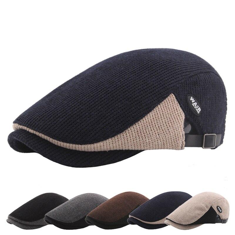 Helisopus Мужская зимняя шапка женский модный берет шапка Регулируемая плоская кепка Ivy шапка для улицы козырек|Мужская кепка восьмиклинка|   | АлиЭкспресс