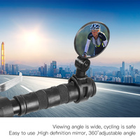 Adjustable Bicycle Rearview Handlebar Mirrors Cycling Rear View MTB Bike Silicone Handle Rearview Mirror
