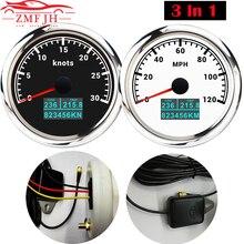 85Mm GPS Đo Tốc Độ Đồng Hồ Đo 3 Trong 1 Màn Hình Hiển Thị LCD COG Chuyến Đi Odomet Thuyền Máy Đo Tốc Độ Với Ăng Ten GPS dành Cho Xe Máy Tự Động Xe Tải
