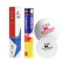 6 шт./кор. XSF суперпрочная дужка с ABS Пластик мячи для настольного тенниса 40+ Бесшовные, 3 звезды, шарики для пинг понга ITTF утвержден мячи для настольного тенниса