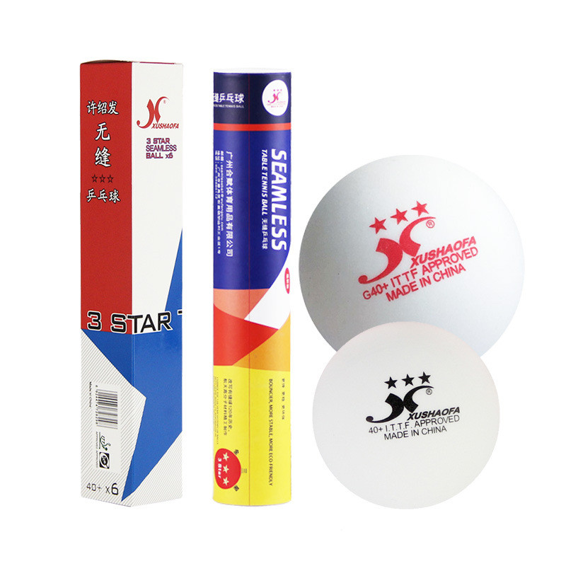 10pcs/Box XSF Super Durable ABS Plastic Table Tennis Balls 40+ Seamless 3 Star Ping Pong Ball ITTF Approved Table Tennis Balls