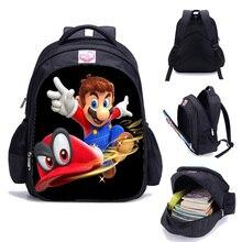 Sac à Dos 16 pouces Anime Mochila Super Mario sacs à Dos pour les adolescentes de lécole