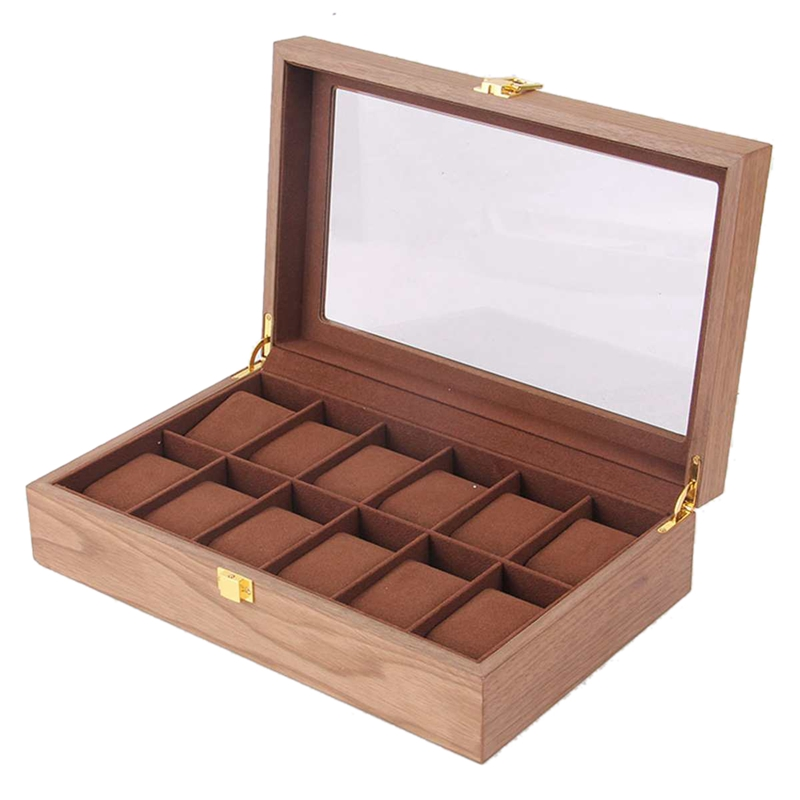 Retro Wooden Watch Display Case Durable Packaging Holder Jewelry Collection Storage Watch Organizer Box Casket