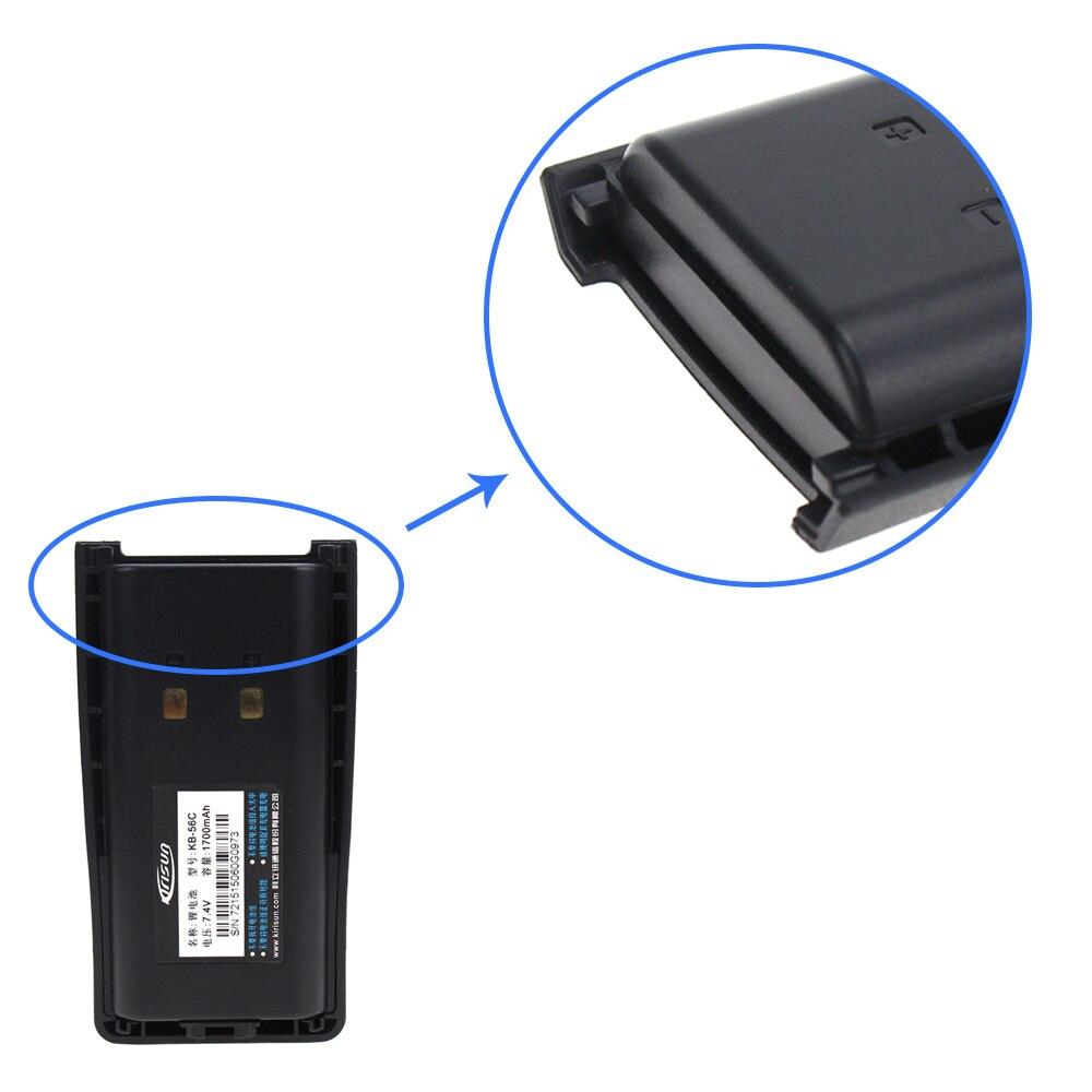 פינות אוכל החלפת סוללה 1700mAh 10X עבור PT-560 KB-56 ג KBC-56 ג רדיו Kirisun FP-560 (5)