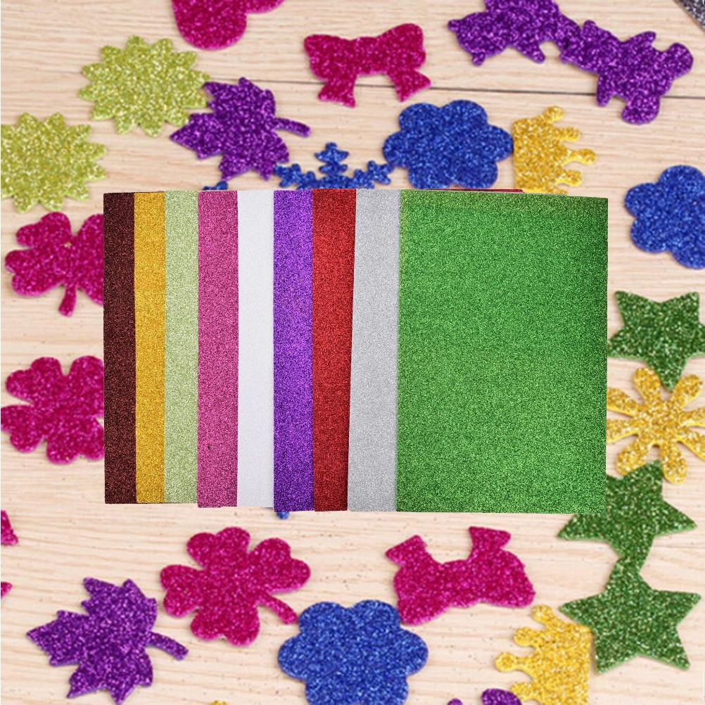10pcs Flash Thick Sponge Paper With Rubber Powder EVA Foam Paper DIY Paper Craft Scrapbooking Paper Origami Colored Decor 3